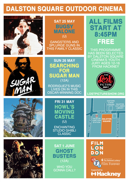 Dalston Square Cinema flyer