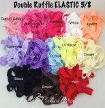 double ruffle elastic