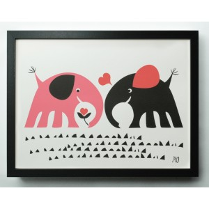 going-danish-elephant-love-a3-print