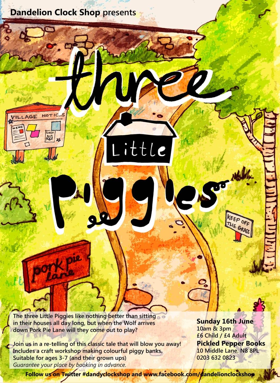 Three Little Piggies Poster