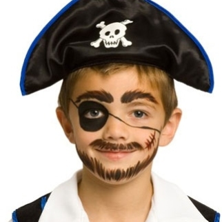 5 min pirate face paint