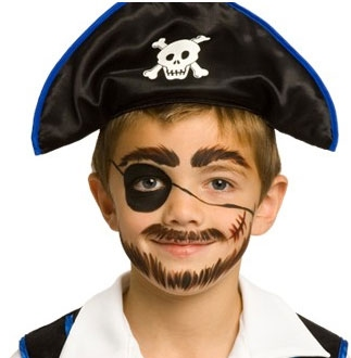 5 min pirate face paint