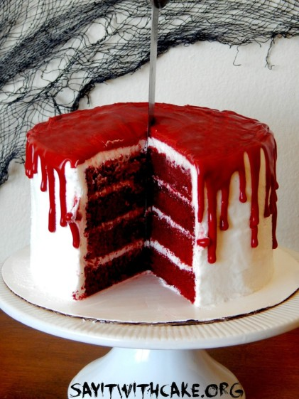 its bloody cake time