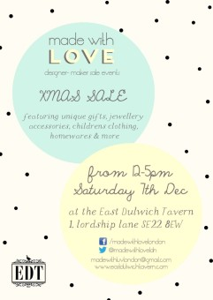 East Dulwich Xmas Sale