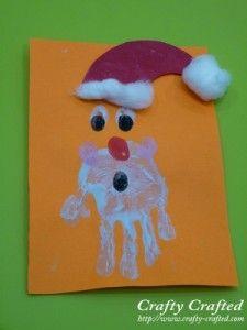 santa card handprint