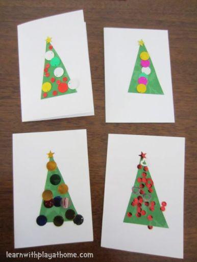 super simple tree cards