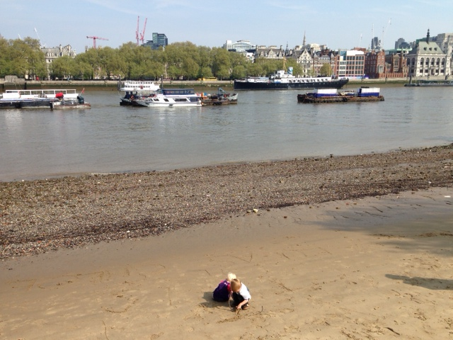 Southbank - The Terrorists on the Thames Beach