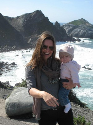 Cass and Lola in Big Sur