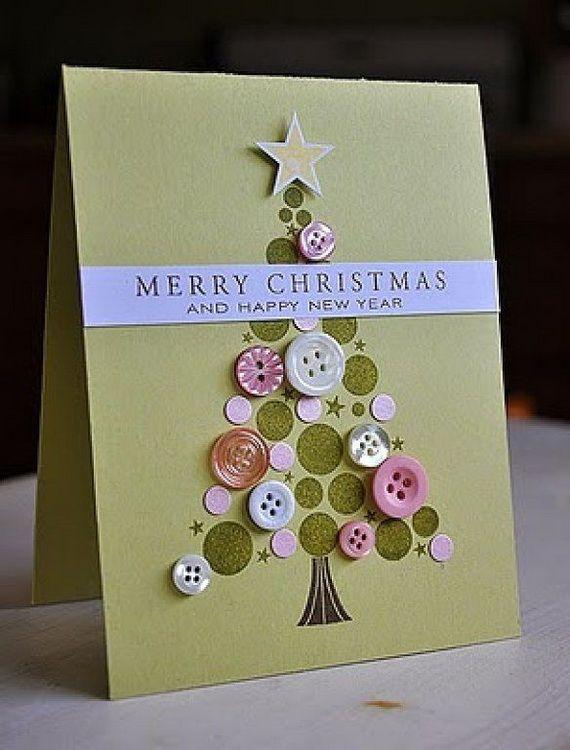 button christmas card