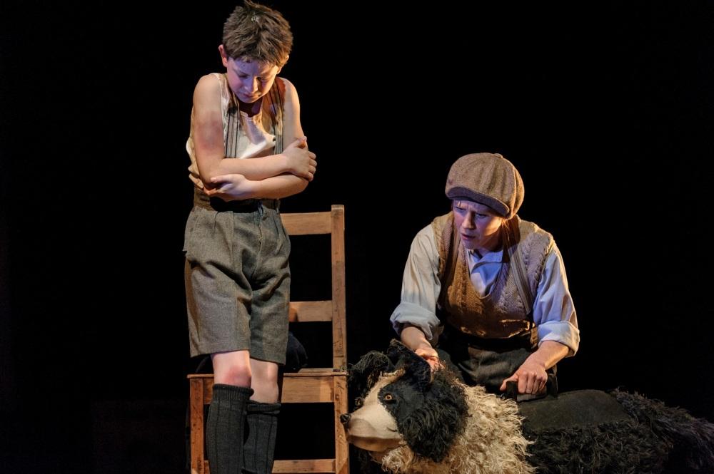 4. Alex Taylor-McDowall (William) and Elisa de Grey (Puppeteer for Sammy the dog) in Goodnight Mister Tom 2015 Credit Dan Tsantilis.jpg.jpg