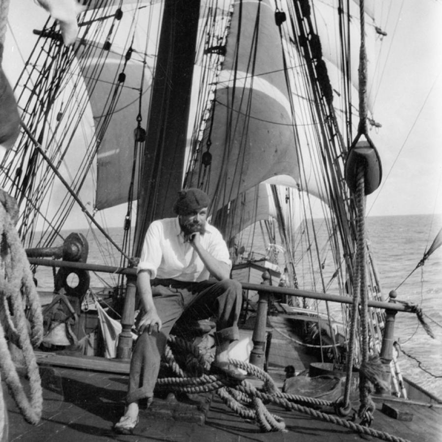 Alan Villiers aboard the 'Grace Harwar' N61226_tile