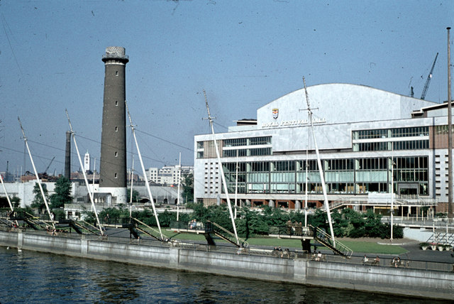 Royal_Festival_Hall_and_Shot_Tower_c1959