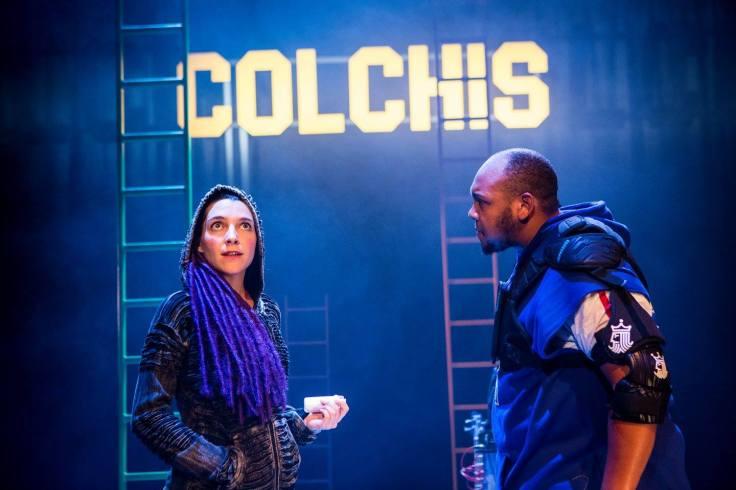 Valentina Ceschi as Medea and Dorian Simpson as Jason  Photography by Helen Murray